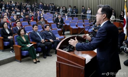 """[사진]김태흠 """"나경원 연임 불허는 최고위 월권"""""""