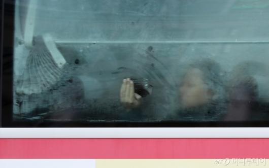 [사진]추운 날씨에 버스도 꽁꽁