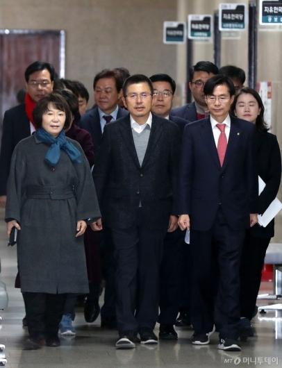 [사진]원내대표 없는 한국당 최고위