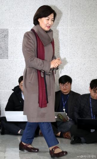 [사진]법무부장관 지명 소감 발표하는 추미애