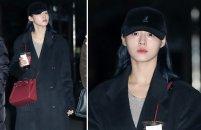 AOA 설현, 새벽 출근길에도 '광채 피부'