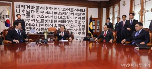 [사진]국회의장 만난 여야3당 원내대표