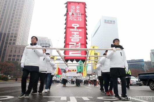 [사진]조선일보 앞 故 오종렬 의장 운구행렬
