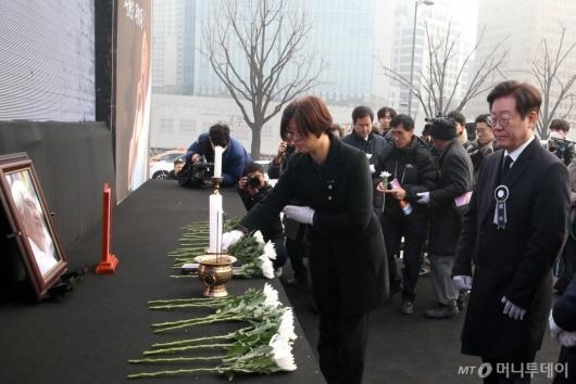[사진]故 오종렬 의장 영결식 참석한 이재명 지사