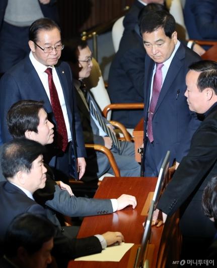 [사진]이인영 원내대표 찾은 자유한국당