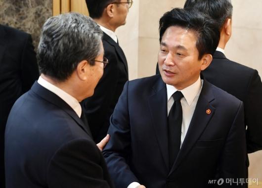 [사진]고 김우중 전 회장 빈소 찾은 원희룡 제주지사