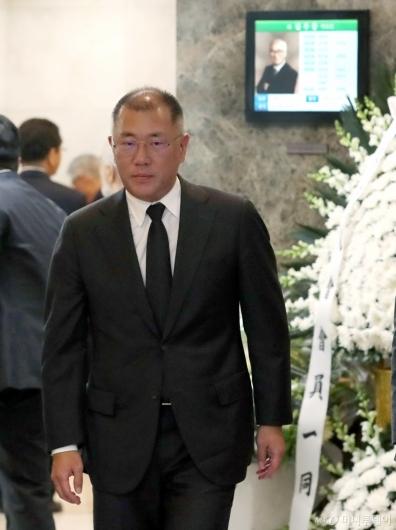 [사진]故 김우중 전 회장 빈소 찾은 정의선 부회장