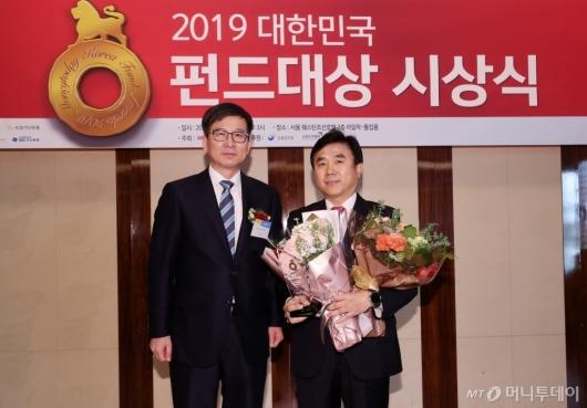 [사진]대상 수상한 삼성자산운용 전영묵 대표