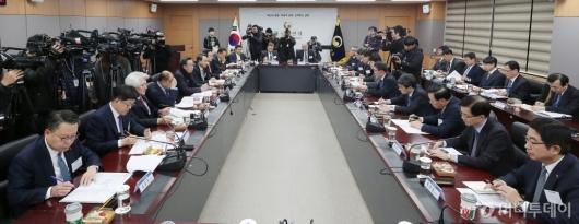 [사진]금융위원회 'DLF사태 관련 시중은행장 간담회'