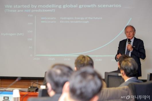 [사진]알렌 핀켈, '호주 수소경제 전략' 기조강연