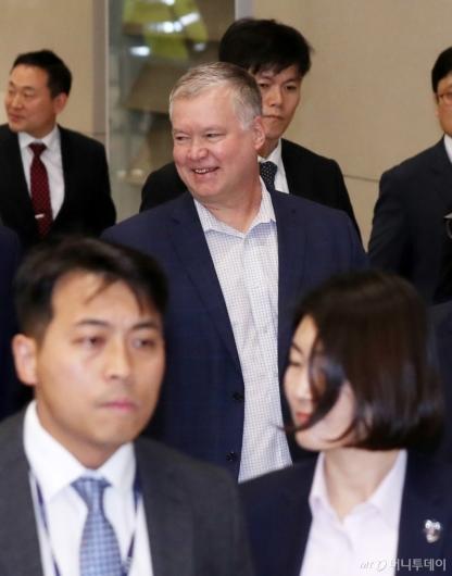 [사진]스티븐 비건 미 대북특별대표 방한