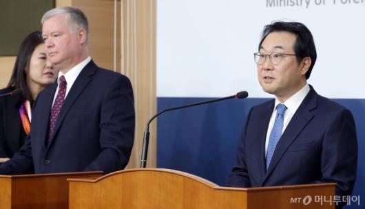 [사진]발언하는 이도훈 한반도 평화교섭본부장