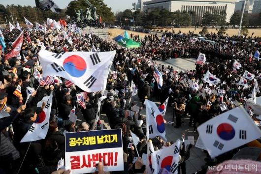 [사진]한국당, 국회서 공수처법·선거법 규탄대회
