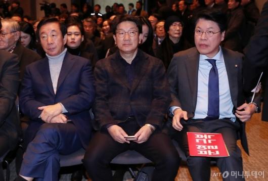 [사진]나란히 앉은 김성태-권성동-장제원