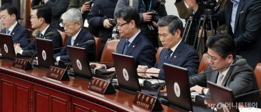 [사진]국무회의 참석한 국무위원들