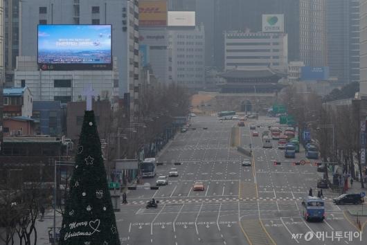 [사진]초미세먼지 낀 그레이 크리스마스