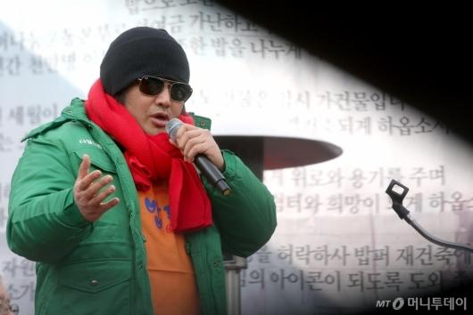 [사진]김보성 '의리로 소외된 이웃과 뭉치겠습니다'