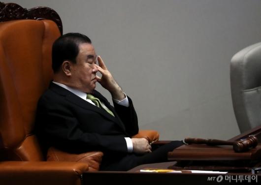 [사진]피곤한 문희상 의장