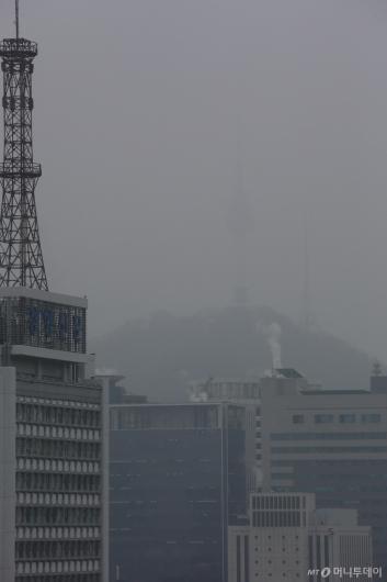 [사진]6일째 계속되는 초미세먼지 습격