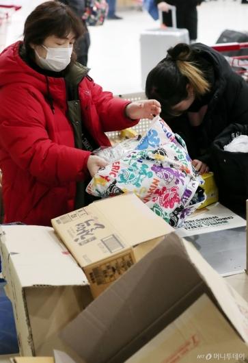 [사진]'박스 대신 장바구니'