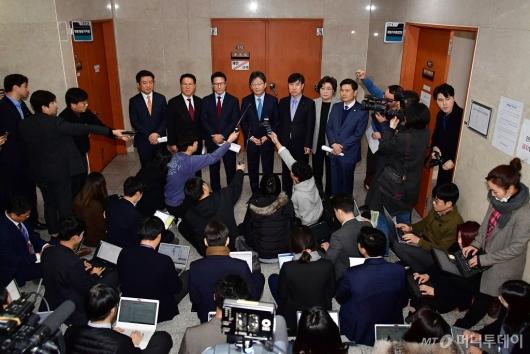 [사진]바른미래당 탈당 의원들