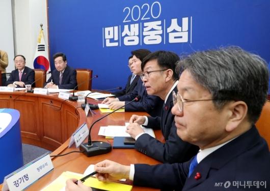 [사진]고위당정협의 발언하는 김상조 정책실장