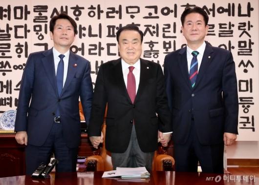 [사진]한국당 빠진 원내대표 회동