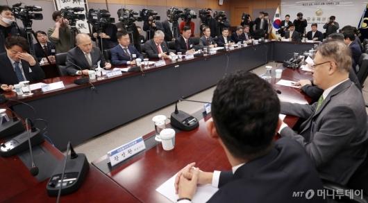 [사진]간담회 모인 금융투자업계 CEO들