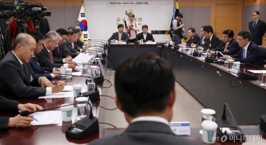 [사진]]은성수 위원장 '금융투자업계 CEO 간담회'