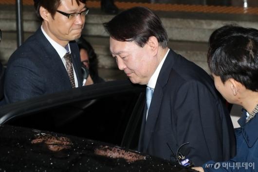 [사진]추미애 예방 마친 윤석열