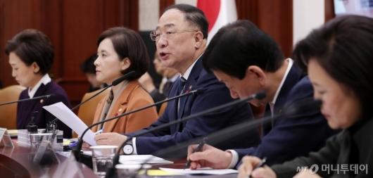 [사진]'경제활력대책회의' 발언하는 홍남기 부총리