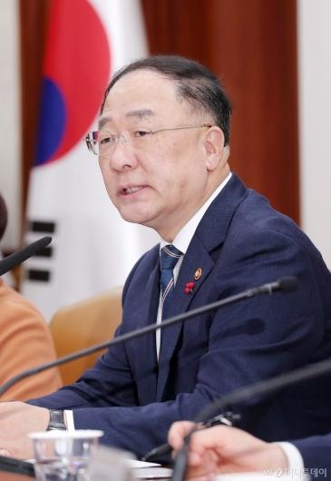 [사진]홍남기 부총리 '경제활력대책회의' 모두발언