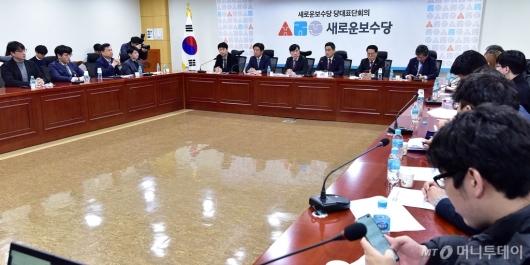 [사진]새로운보수당, 제1차 당대표단-청년연석회의