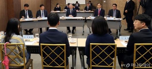 [사진]구직자들과 만난 홍남기 경제부총리