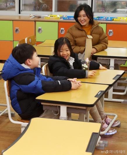 [사진]들뜬 예비 초등학생들