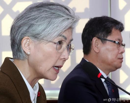 [사진]강경화, 호르무즈해협 파병 관련 발언