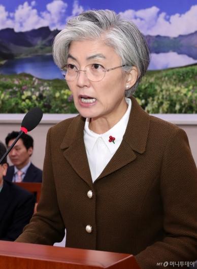 [사진]국회 외통위 전체회의 출석한 강경화 장관