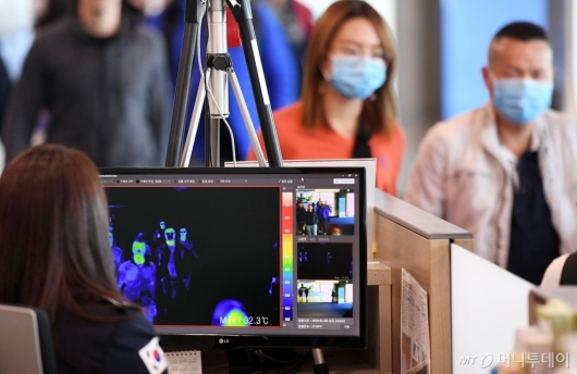 [사진]'원인불명' 중국 폐렴, 공항 검역 시스템 강화