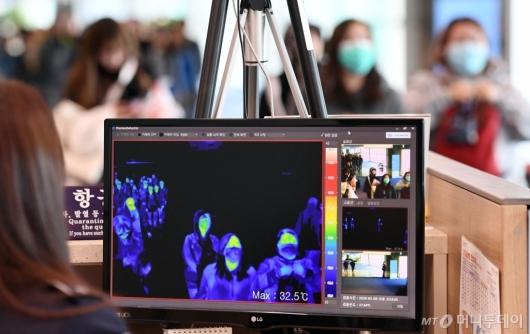 [사진]중국 '원인불명' 폐렴 검역
