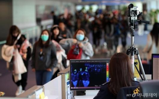 [사진]인천공항, '원인불명' 중국발 폐렴 검역 강화