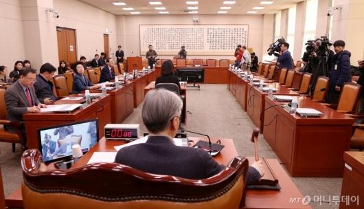 [사진]국회 법사위, 민주당 불참