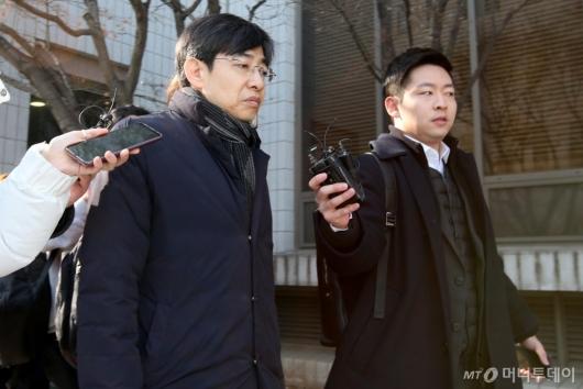 [사진]징역 6월 구형받은 '지하철 몰카' 김성준 전 앵커