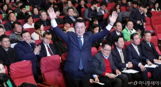 [사진]대안신당 '최경환 신임 대표 선출'