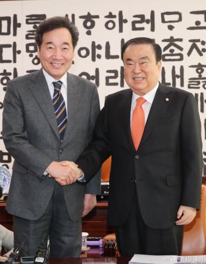 [사진]문희상 의장 예방한 이낙연 전 총리