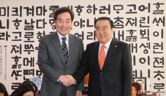 [사진]이낙연 전 국무총리, 문희상 국회의장 예방