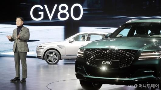 [사진]'GV80' 소개하는 이용우 부사장
