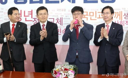 [사진]한국당 영입인재 4호는 산업재해 공익신고자