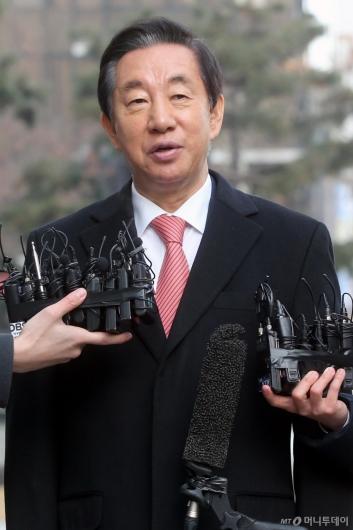 [사진]1심 선고 공판 출석한 김성태 의원