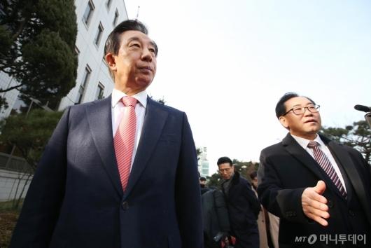 [사진]'KT 딸 부정채용' 1심 무죄 선고 받은 김성태 의원