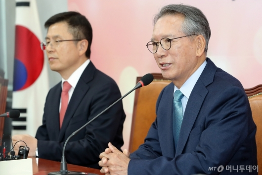[사진]발언하는 김형오 공천관리위원장